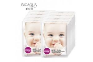 BioAqua Mask Baby Skin Soft White осветляющая маска с коллагеном и алоэ