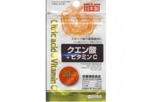 Daiso Citric Acid Vitamin C - цитрусовый мультивитаминный комплекс (20 дней)