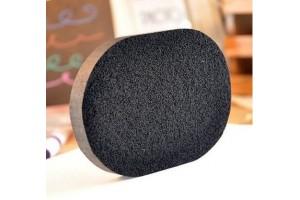 Спонж флаттер для умывания с бамбуковым углем (против черных точек)