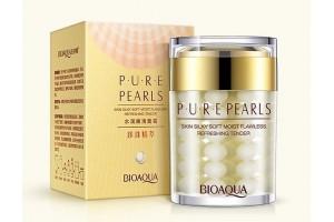 BioAqua Pure Pearls жемчужный крем для лица с шелковистым покрытием