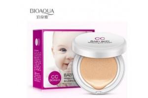 BioAqua CC Baby Skin осветляющий СС крем в кушоне