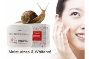 3W CLINIC Snail Mucus Sleeping Pack ночная маска с экстрактом слизи улитки