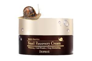 Deoproce Snail Recovery Cream крем для лица с улиточной слизью (100 гр)