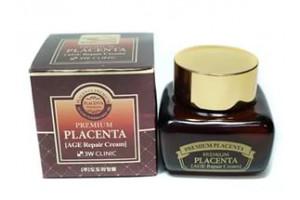 3W Clinic Premium Placenta Age Repair Cream антивозрастной крем с Плацентой