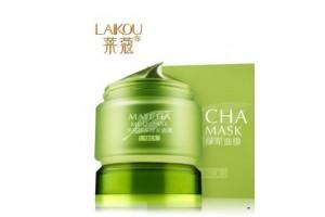 Laikou Matcha Mud Mask очищающая маска с бобами Мунг и матча