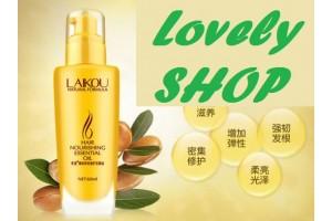 Масло для восстановления и блеска волос (Аргана+кератин), LAIKOU