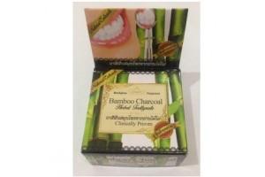 "Тайская травяная отбеливающая зубная паста Bamboo Charcoal ""Clinicaly Droven"" Rochjana, 30"